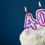 Kake med 40-årslys